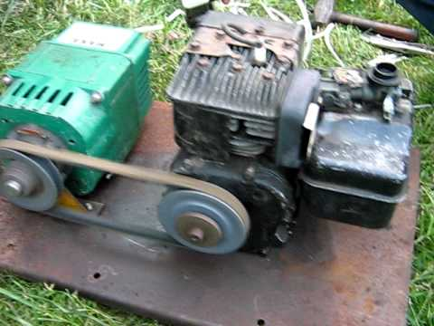 Belt Drive Generator With 5 Horse Briggs At 1000 Watts