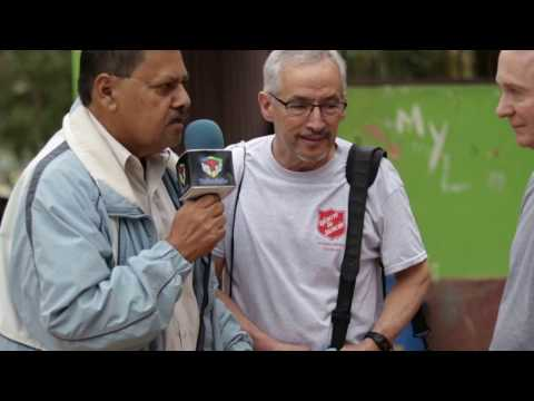 Local TV interview of Honduras Medical Mission Brigade