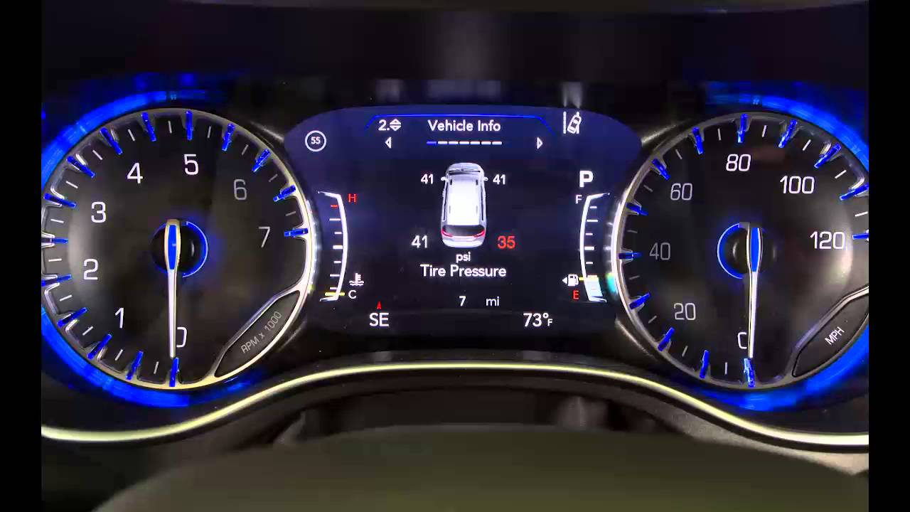 Chrysler 200: Tire Pressure Monitoring Low Pressure Warnings
