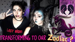 Transformation to zodiac signs? gemini and a capricorn ?| timelapse | with Emy lawson