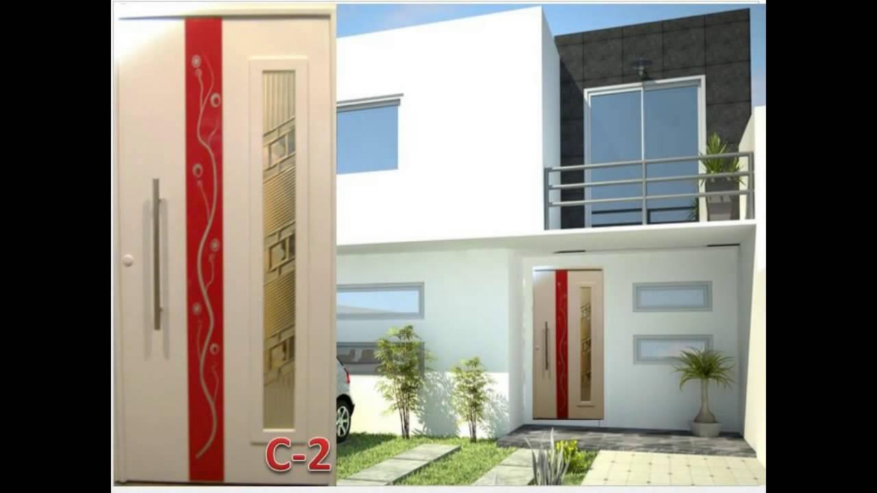 Puertas modernas youtube for Puertas de entrada de casas modernas