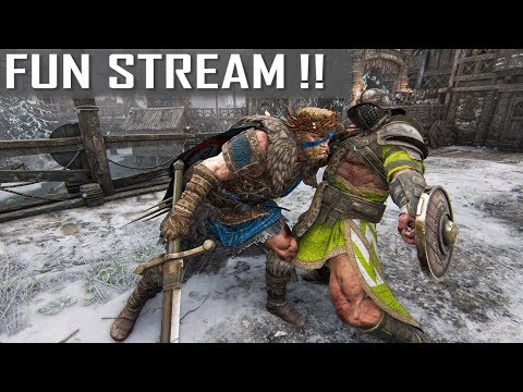 DUNMAGLASS! Road to 8K Subs! - Highlander & Gladiator FUN LIVE STREAM! [For Honor!!]