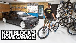 Ken Block's Ultimate Home Garage: Downhill Mountain Bikes, Ford RS200, and More!