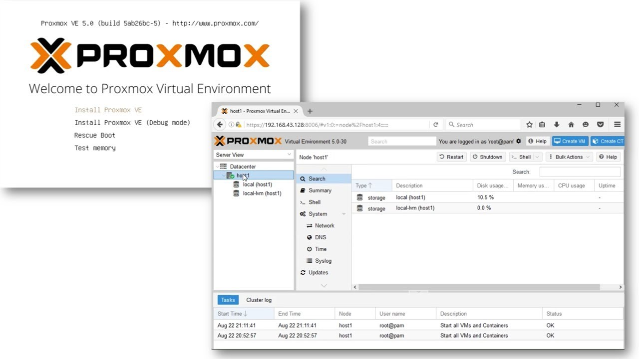Proxmox VE 5 0 - Download and Installation