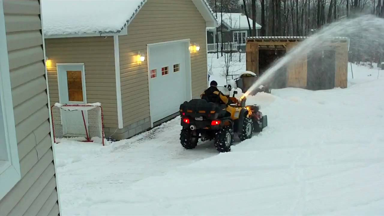 Kimpex Snowblower Honda Foreman - YouTube