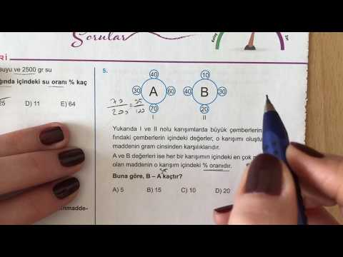 345 TYT Matematik Karışım Problemleri Test-2 Anlatımlı Çözümleri (2018-2019 Basım)