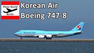 Korean Air 대한 항공 Boeing 747-8 takeoff from San Francisco Airport