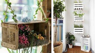 12 Ideias de Pequenos Jardim com Caixotes de Feira
