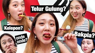 Korean Tried Indonesian Street Food Part2 || Yogyakarta Vlog🇮🇩
