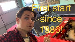 First start since 1986! Found Alfa Romeo Duetto first start today! Live feed