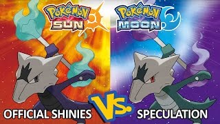 Pokemon Sun and Moon: Official Shinies vs. Shiny Speculation - How'd I Do? (Alola Forms)
