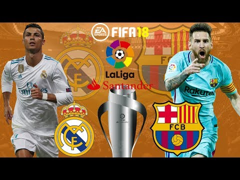 FIFA 18 | Real Madrid vs Barcelona | El Clásico | La Liga 2017/18 | Prediction Gameplay