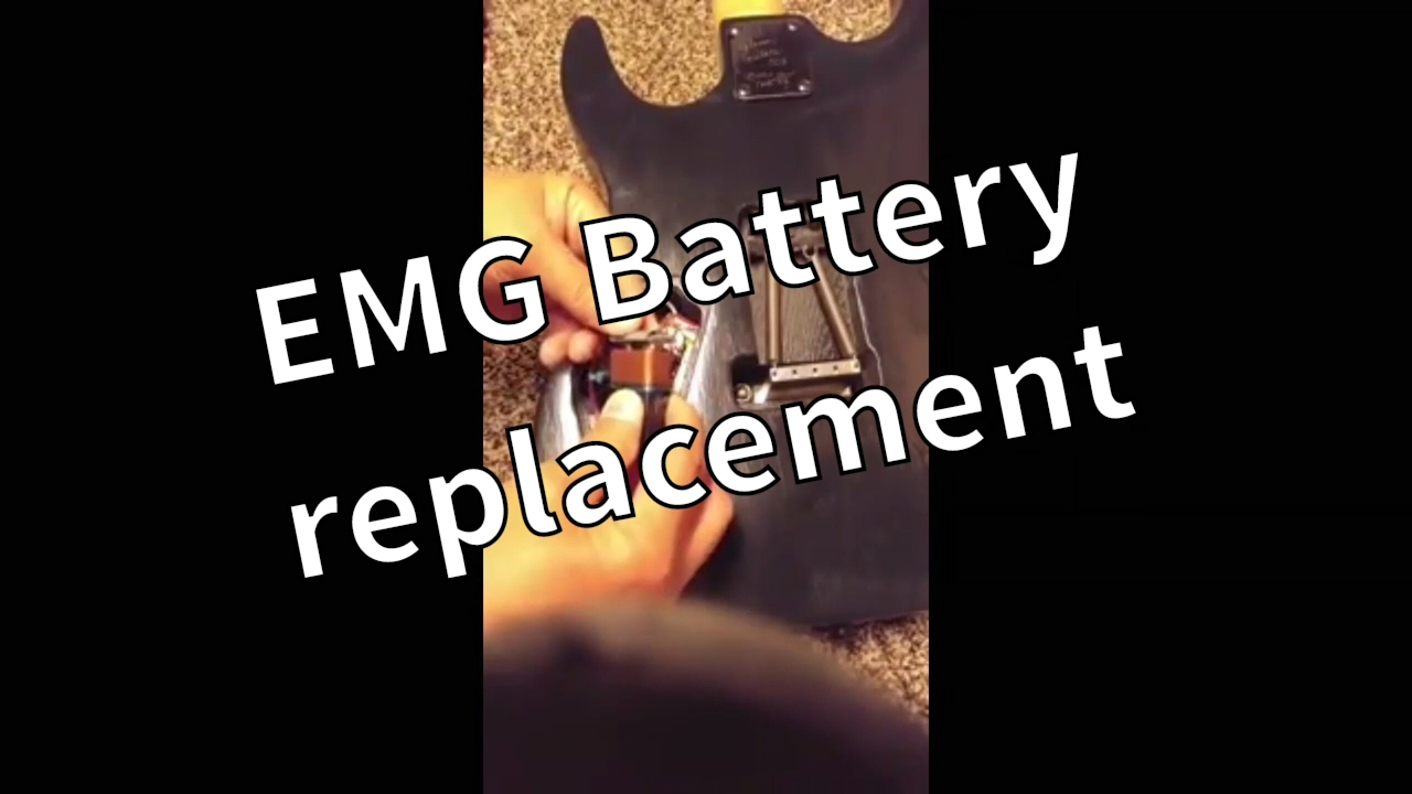 Emg 81 85 Active Pickups Battery Replacement Youtube How To Install