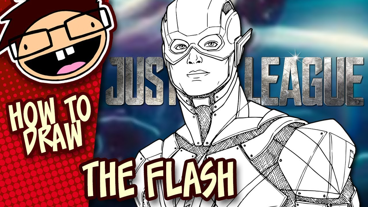 How To Draw The Flash Justice League Narrated Easy