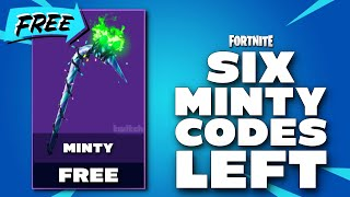 HEY ! YOU WANT A MINTY PICKAXE CODE - 6 CODES LEFT - FORTNITE - PS4 PRO