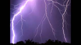 10 Hours Meditation music: Thunderstorm with Pan Flute and harp
