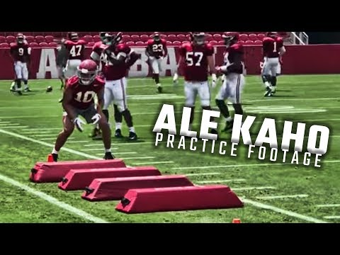 First-look video of Ale Kaho at Alabama practice