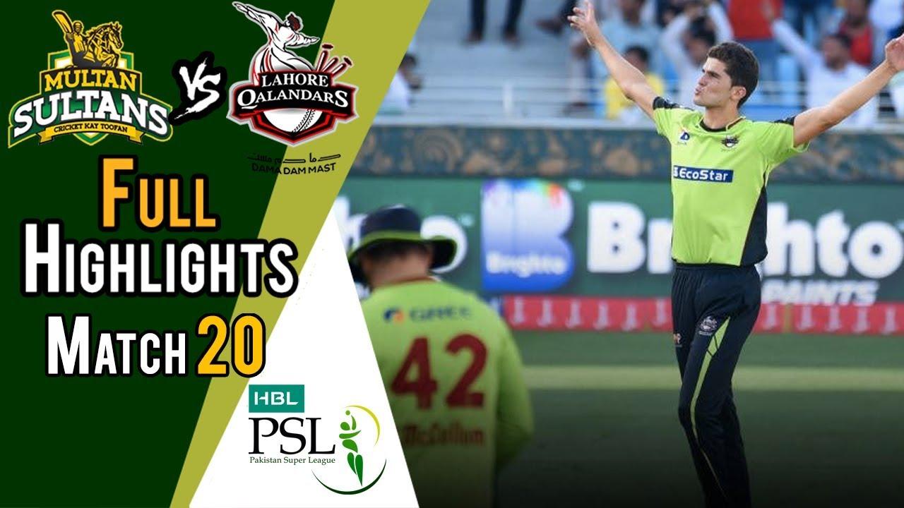 Full Highlights   Lahore Qalandars Vs Multan Sultans    Match 20   9 March   HBL PSL 2018