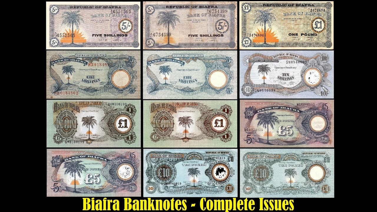 Biafra Currency - Complete Issue #CollecterParadise #Banknote  #CompleteIssue #Biafra #USD #Hobby - YouTube
