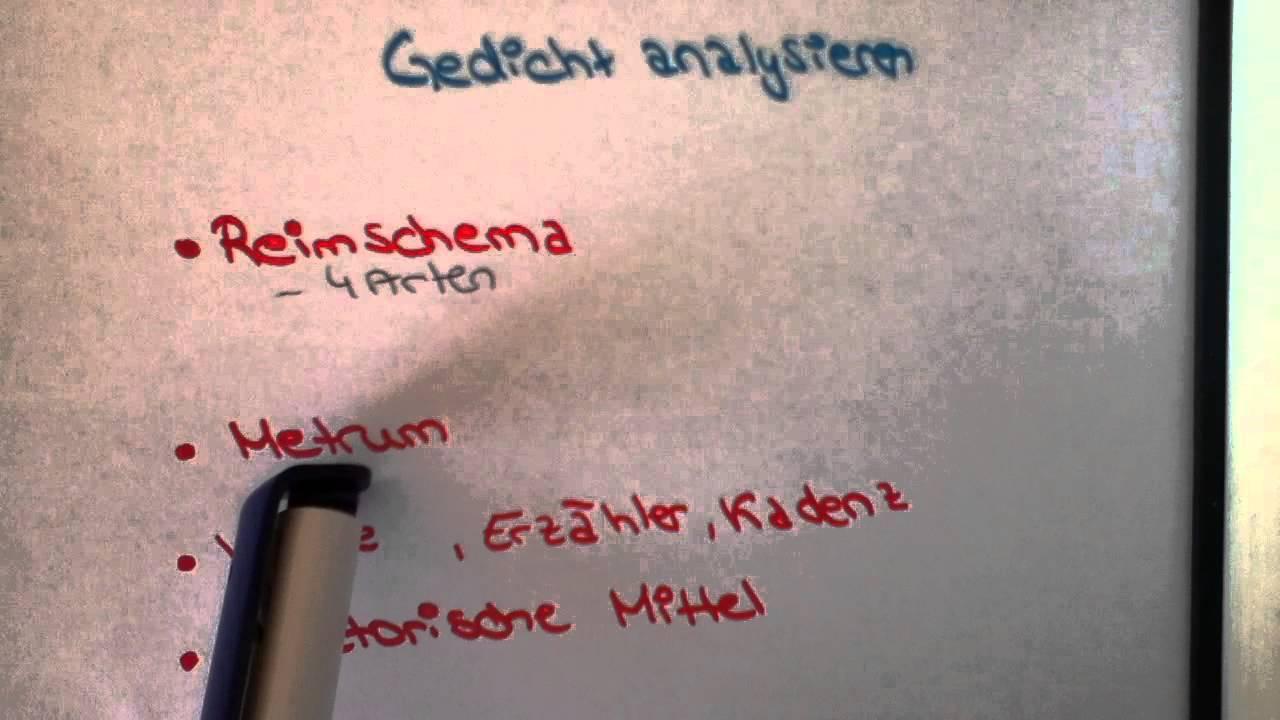 Gedichte Analysieren Wie Kann Ich Gedichte Richtig Analysieren Gedichte Interpretieren