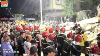بالفيديو.. قتيلان و24 جريحًا بانهيار مبنى في الدار البيضاء