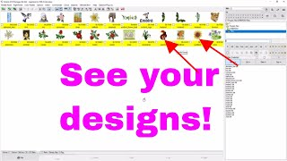 EMBIRD BASIC Beginner: How to see your embroidery files with Pictures