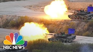 U.S., S. Korean Troops Conduct Live-Fire Drill, As Public Jeer Missile Defense System | NBC News