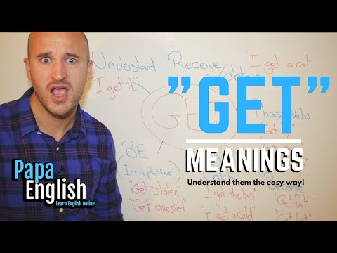 """The many meanings of """"Get"""" - Learn English grammar"""