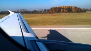 Lufthansa A320 Take off from Munich Franz Josef Strauss Airport