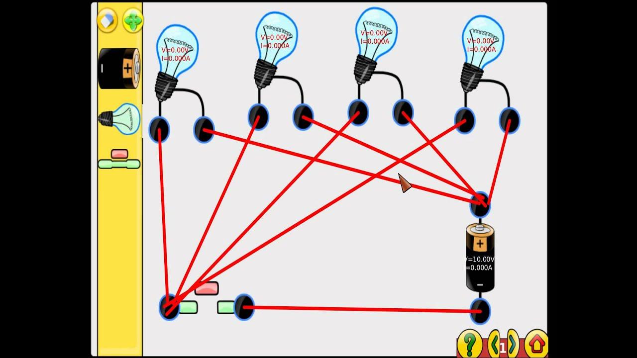 Circuito Eletrico : Montando circuito elétrico básico com gcompris youtube