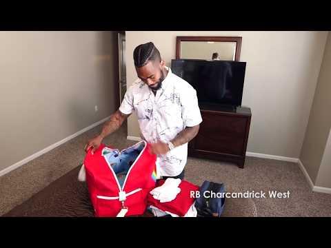 Charcandrick West cool Skittles luggage
