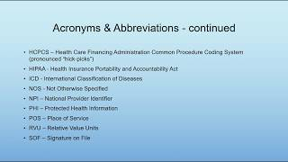 Medical billing terminology, acronyms ...