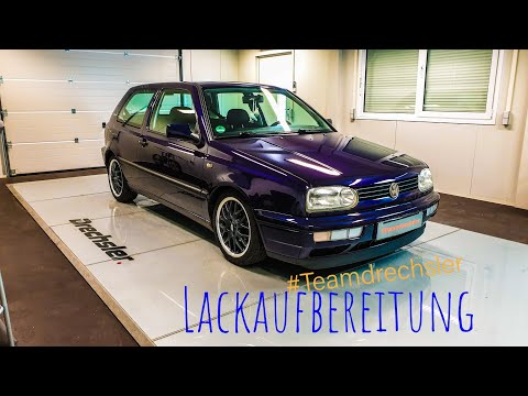VW GOLF 3 (Bon Jovi) Lackaufbereitung. Paint Refreshing