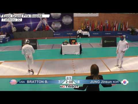 FE M E Individual Bogota COL Grand Prix 2017 T32 15 yellow JUNG KOR vs BRATTON USA