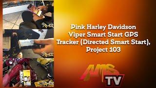 Pink Harley Davidson Viper Smart Start GPS Tracker (Directed Smart Start), Project 103