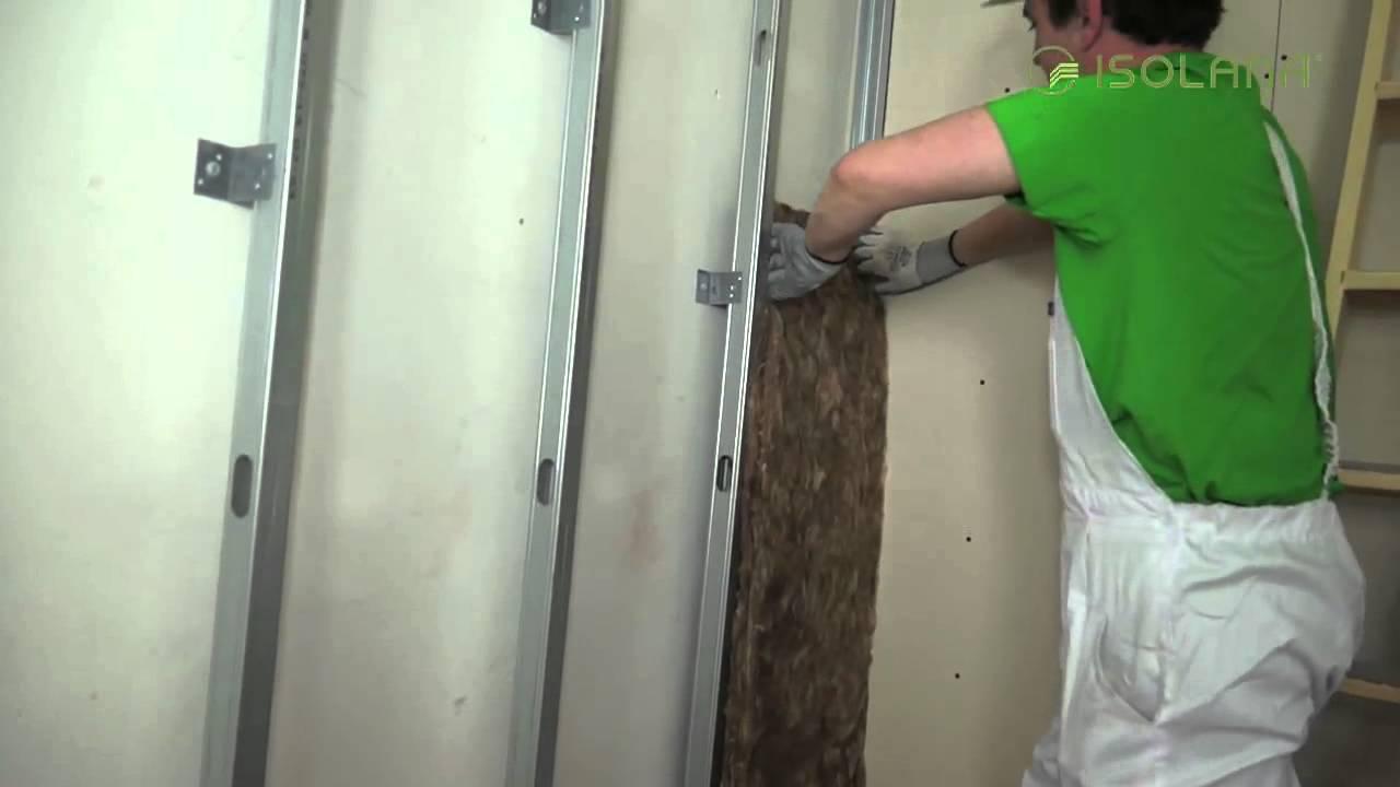 C mo instalar un trasdosado con placas de yeso laminado - Como colocar pladur en techo ...