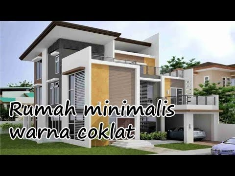 Kombinasi Warna Cat Rumah Hijau Tua  kombinasi cat rumah minimalis warna coklat yang bagus dan
