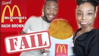 DIY GIANT McDONALDS HASH BROWN 🍟(HE CUT HIS FINGER!)