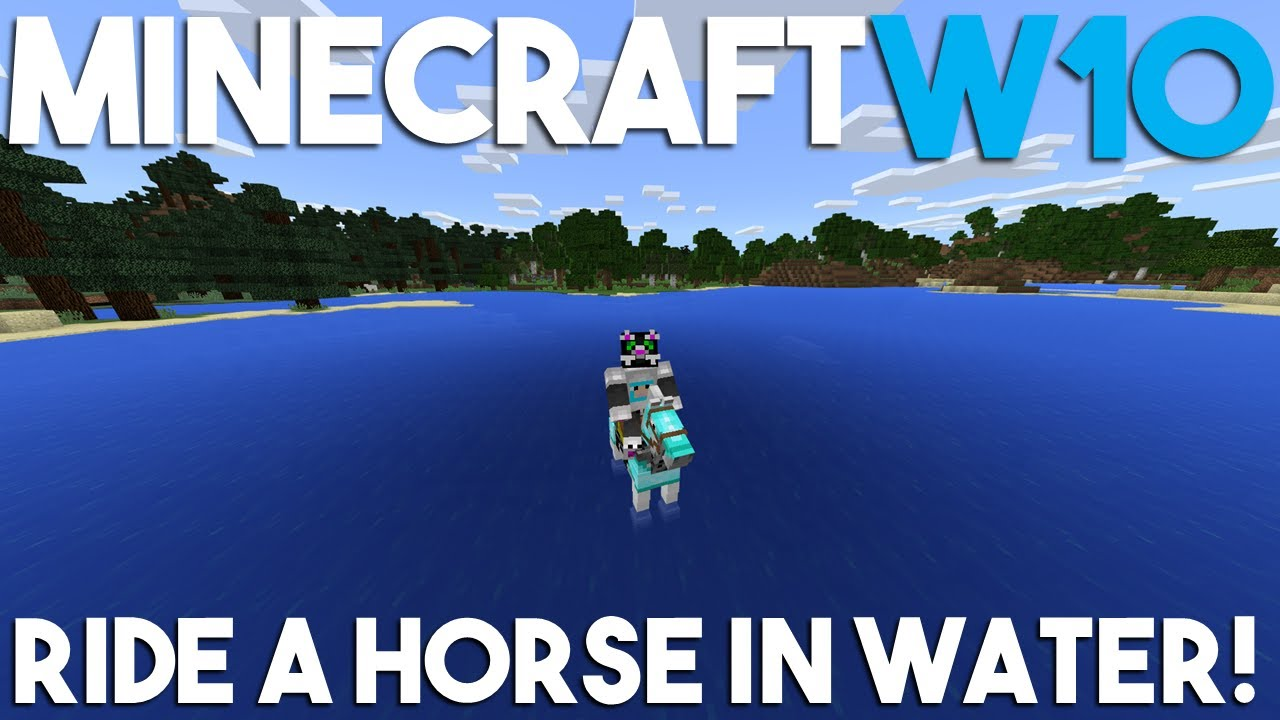 How to Swim on a Horse in Minecraft Windows 11 Edition!