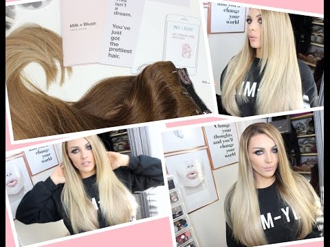 Milk and Blush Hair Extensions Unboxing ~ My old set vs new set