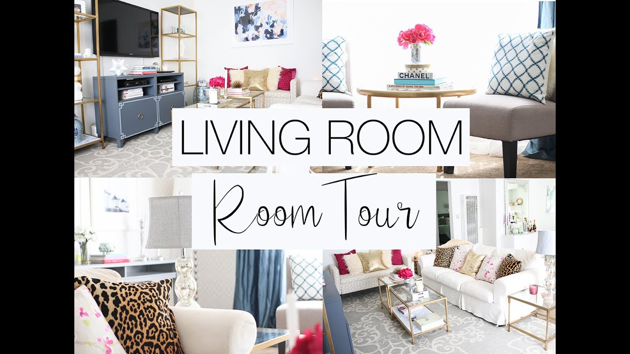 living room makeover  quick room tour  youtube