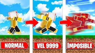 MINECRAFT: CORRIENDO 9999 VECES MAS RÁPIDO QUE FLASH!! 😱 SUPER HEROES EN MINECRAFT #1