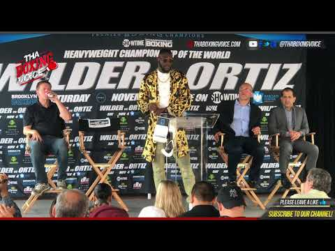 Deontay Wilder vs. Luis Ortiz Full Media Questions And Answers Ortiz Claims Wilder is Nervous