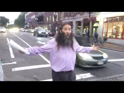 Man preaches flat earth on the streets of Harvard University