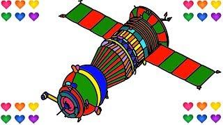 Bangobandhu Satellite 1   Satellite Draw    Bangladeshi first Satellite Bangabandhu-1 Color for kids