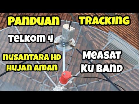 Cara Tracking Telkom 4 dan Measat Ku Band diParabola Jaring 7 Feet