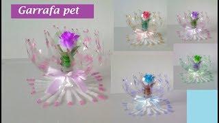 Vaso de garrafa pet fácil – lembrancinha – decoração