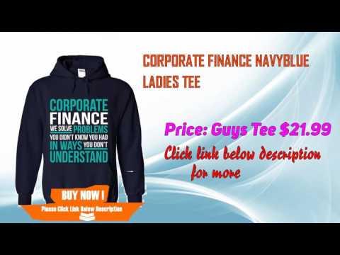 Corporate finance NavyBlue Ladies Tee