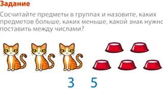 Математика 1 класс Урок 6 Сравнение предметов На сколько больше На сколько меньше