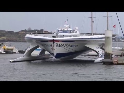 Voilier ; Trimaran de Course Solaire ; Race for Water ; Kernével ; Lorient ; Bretagne ; France
